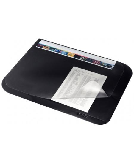 Patiesalas rašymui LEITZ PLUS su permatomu atvartu, 500x650mm, juodas