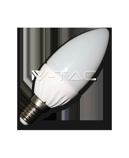 Šviesos diodų (LED) elektros lemputė, E14, 4W, 3000K, tulpės formos