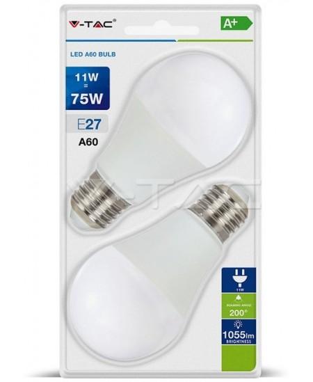 Šviesos diodų (LED) elektros lemputė, E27, 11W, 3000K, burbulo formos