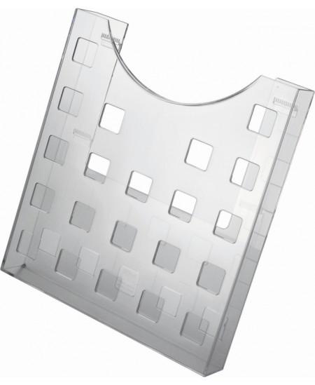 Sieninis dėklas brošiūroms HELIT, 241x37x264mm, skaidrus