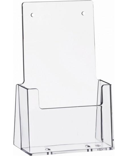 Stovelis brošiūroms HELIT, 115x65x185mm, skaidrus