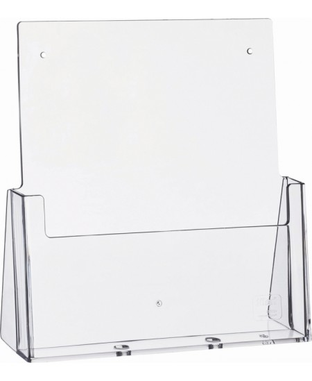 Stovelis brošiūroms HELIT, A4, 235x85x250mm, skaidrus