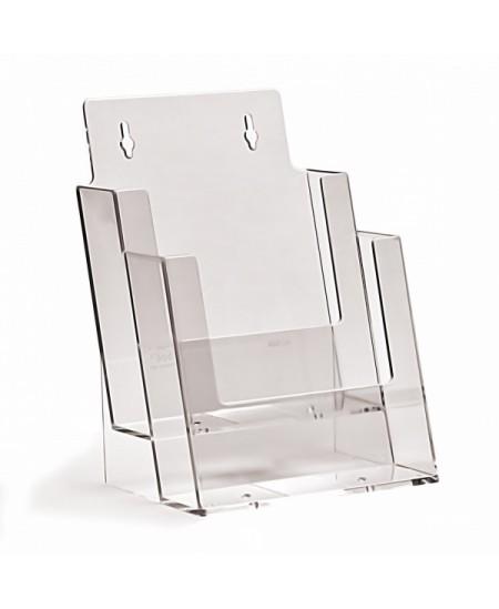Bukletų laikiklis, A5 (148x210mm), vertikalus, 2xA5