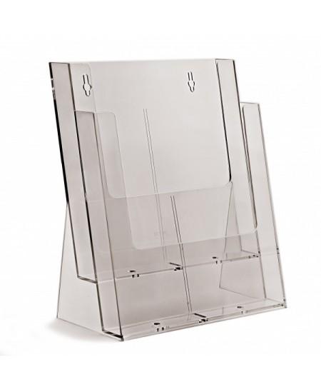 Bukletų laikiklis, A4 (210x297mm), vertikalus, 2xA4