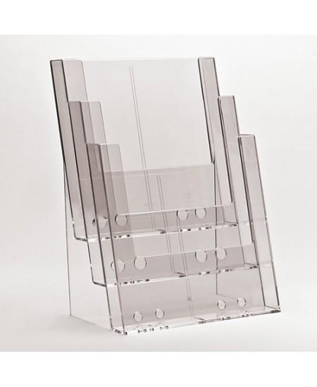 Bukletų laikiklis, A4 (210x297mm), vertikalus, 3xA4