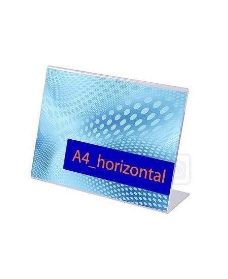Reklaminis stovelis, L forma, A4 (297x210mm), horizontalus