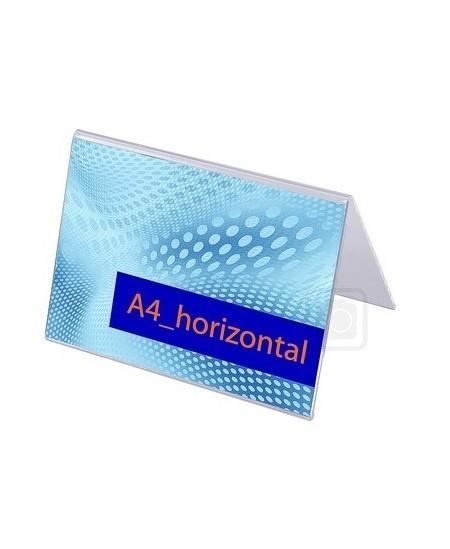 Reklaminis stovelis, A forma, A4 (297x210mm), horizontalus