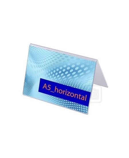 Reklaminis stovelis, A forma, A5 (210x148mm), horizontalus