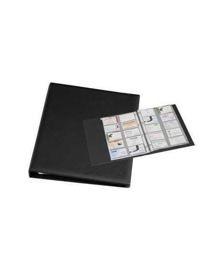 Vizitinių kortelių albumas Rillstab, A4, 400 kortelių, juodas