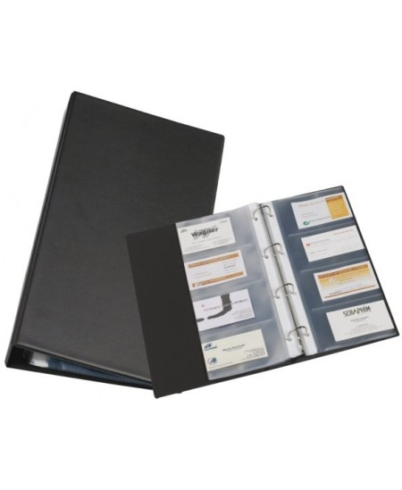 Vizitinių kortelių albumas RILLSTAB, A4, 120 kortelių, juodas