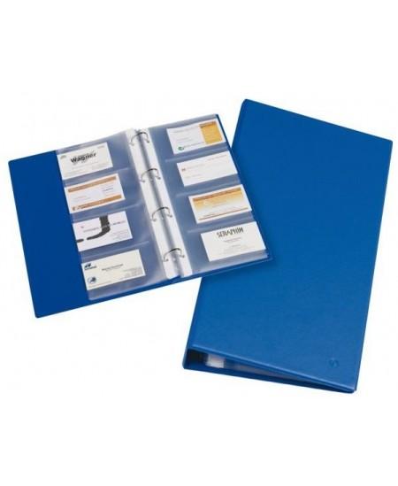 Vizitinių kortelių albumas RILLSTAB, A4, 120 kortelių, mėlynas