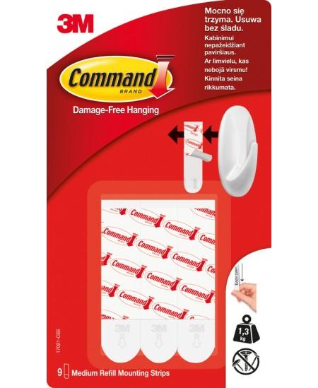 Nuimamos dvipusės juostelės COMMAND, 8 vnt.