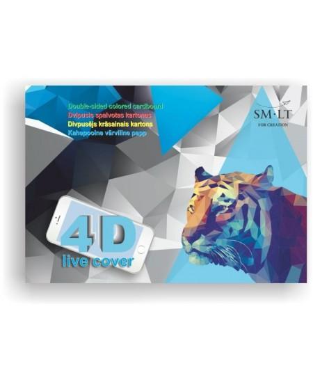 Dvipusis spalvotas kartonas su papildytos realybės (4D) viršeliu, 16 lap.