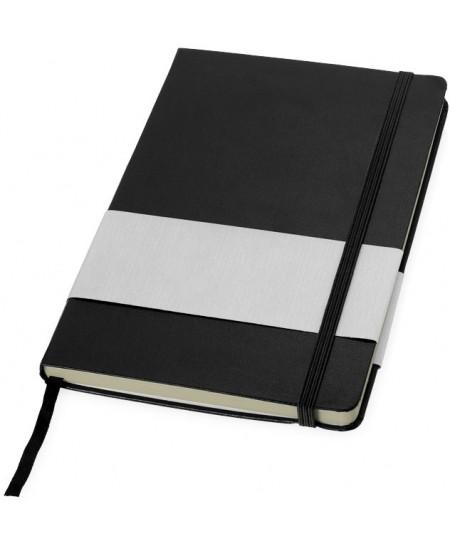 Užrašų knygelė BALMAIN Paris su gumele ir skirtuku, A5, linija, juoda