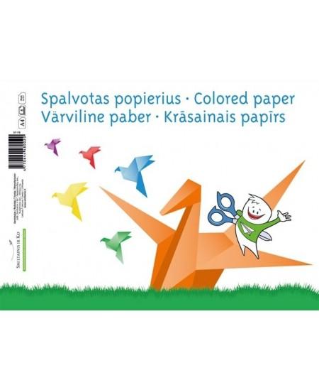 Spalvoto vienpusio popieriaus rinkinys SM-LT, A4, 80 g/m2, 8 lapai