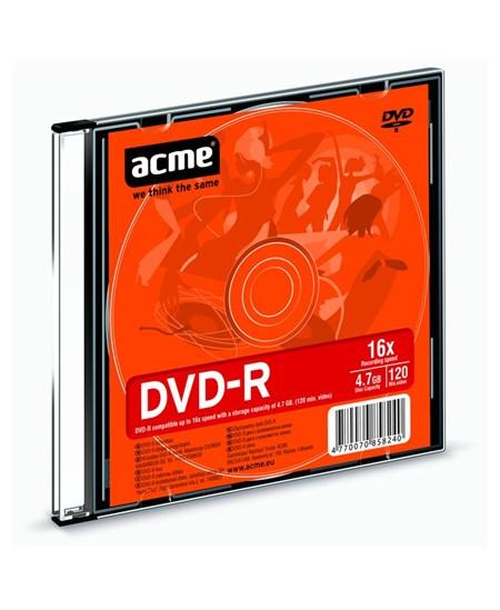 Laikmena ACME DVD-R, 4.7GB, 16X, plonoje dėžutėje