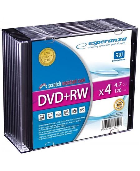 Laikmena ESPERANZA DVD+RW, 4.7GB, 4X, plonoje dėžutėje