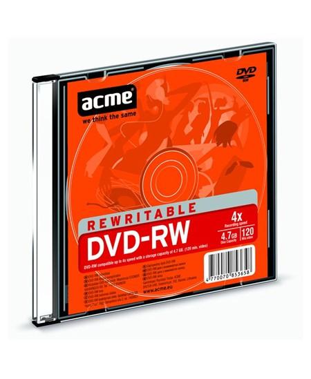 Laikmena ACME DVD-RW, 4.7GB, 4X, plonoje dėžutėje