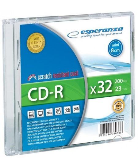 Laikmena ESPERANZA mini CD-R, 32X, plonoje dėžutėje