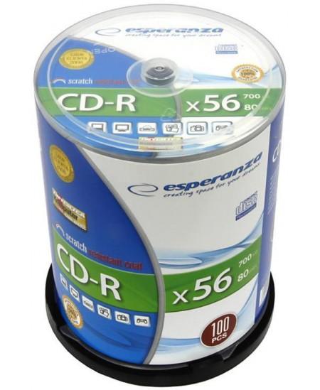 Laikmena ESPERANZA CD-R, 700 MB, 52x, 100 vnt. iešmas