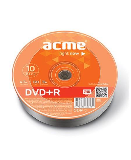 Laikmena ACME DVD+R, 4.7GB, 16X, 10 vnt. iešmas