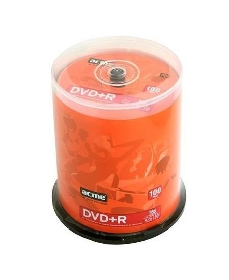 Laikmena ACME DVD+R, 4.7GB, 16X, 100 vnt. iešmas