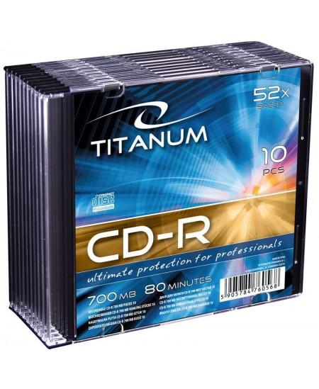 Laikmena TITANUM CD-R, 700MB, 52X, plonoje dėžutėje