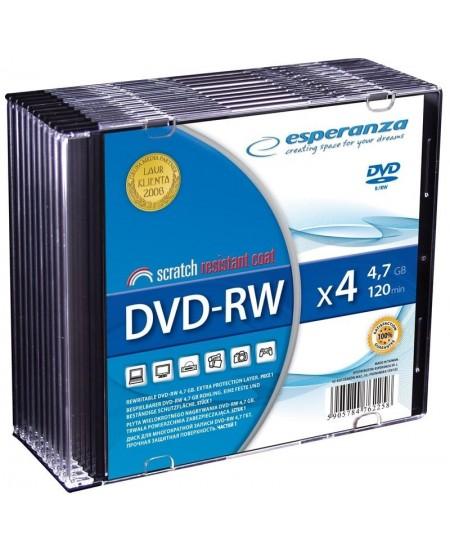 Laikmena ESPERANZA DVD-RW, 4.7GB, 4X, plonoje dėžutėje