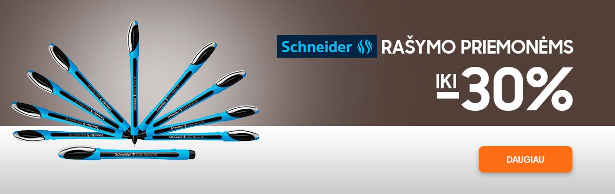 Schneider rašymo priemonėms nuolaidos iki 30%